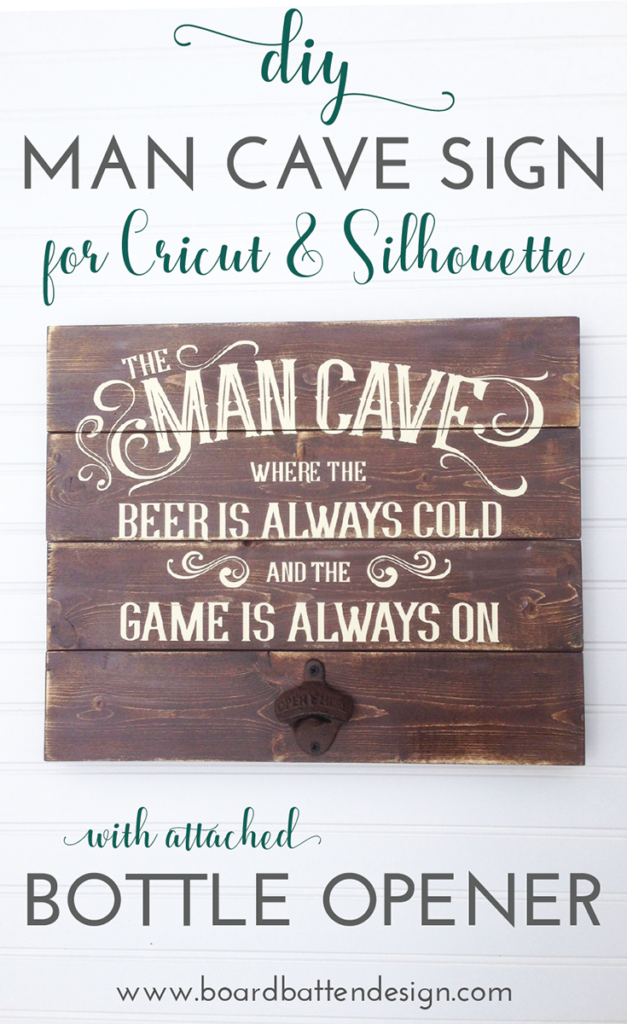 DIY Man Cave Sign with PVPP for Silhouette or Cricut