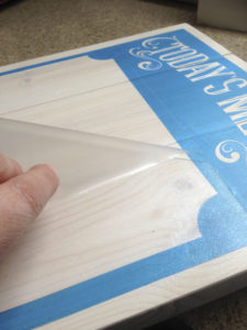 DIY Menu Board with Cricut or Silhouette