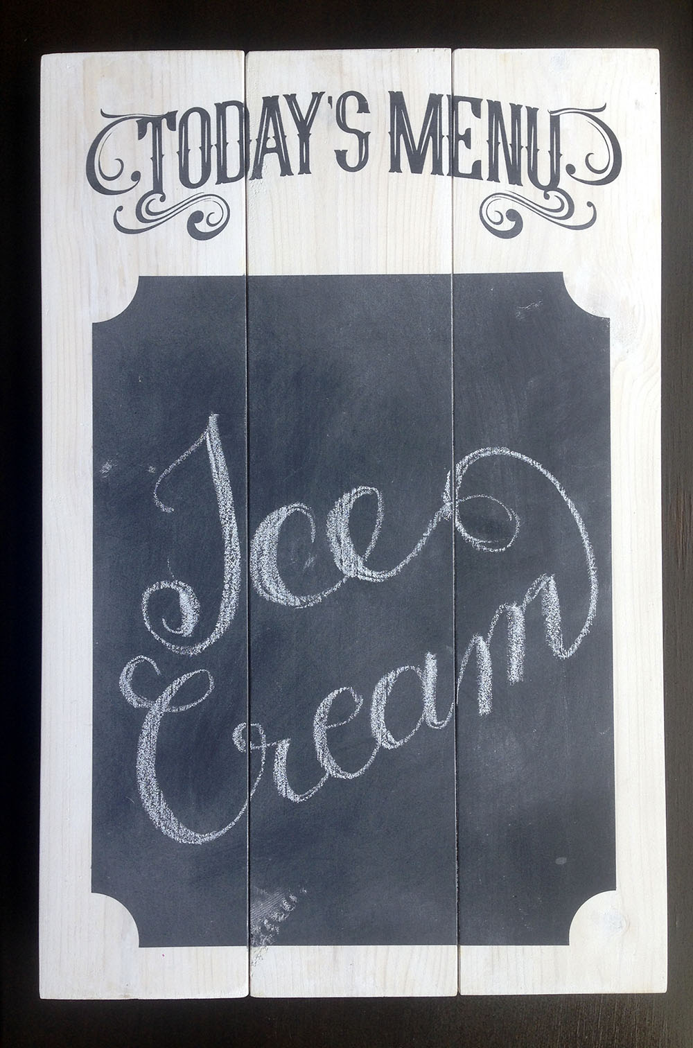 Project Idea: DIY Chalkboard Menu Sign for Silhouette or Cricut
