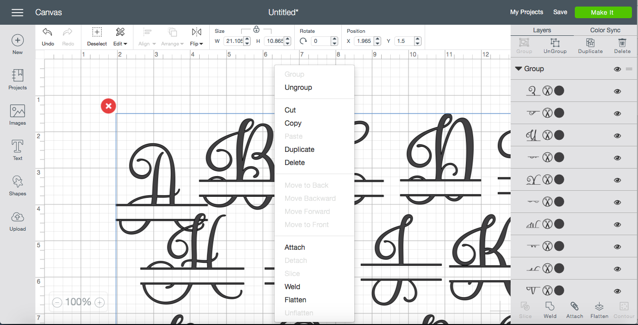 Working With Multiple Designs In One SVG File Using Cricut