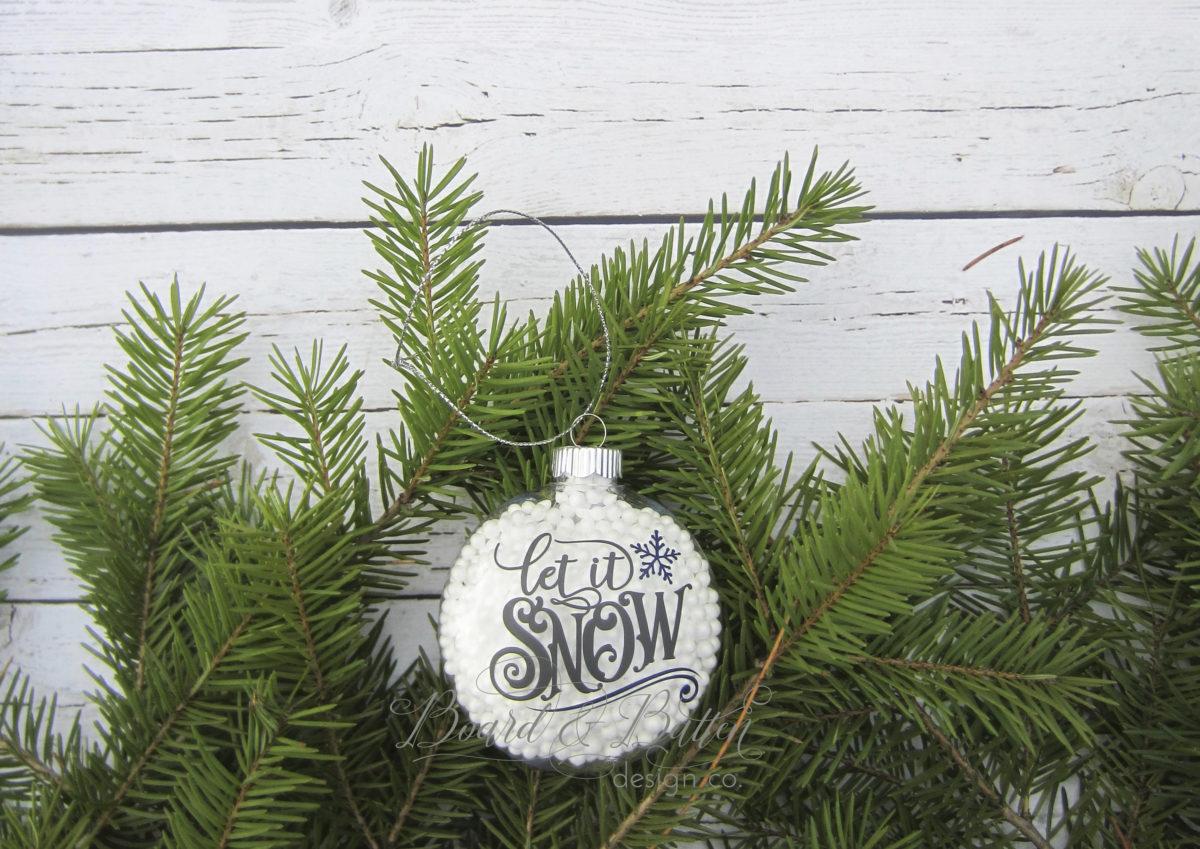 Let it Snow Ornament – a Silhouette/Cricut Project Idea