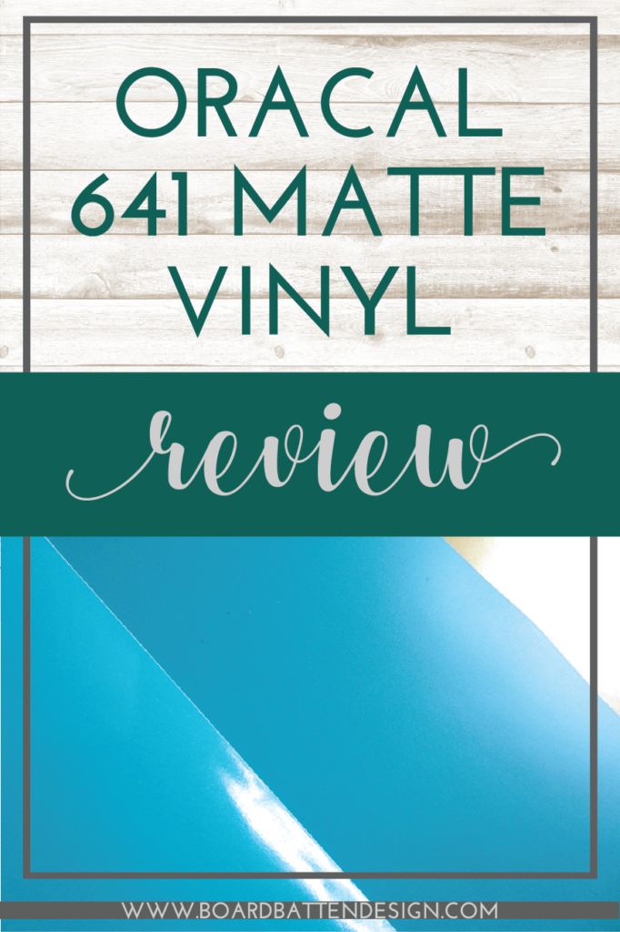 Heard about the new Oracal 641 matte vinyl for your Cricut or Silhouette Cameo but not sure if you want to try it? Well, I tried it so you don't have to! …But you might want to anyway… check out my review for all the details!