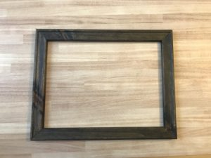 Staining Canvas Frame for Reverse Canvas