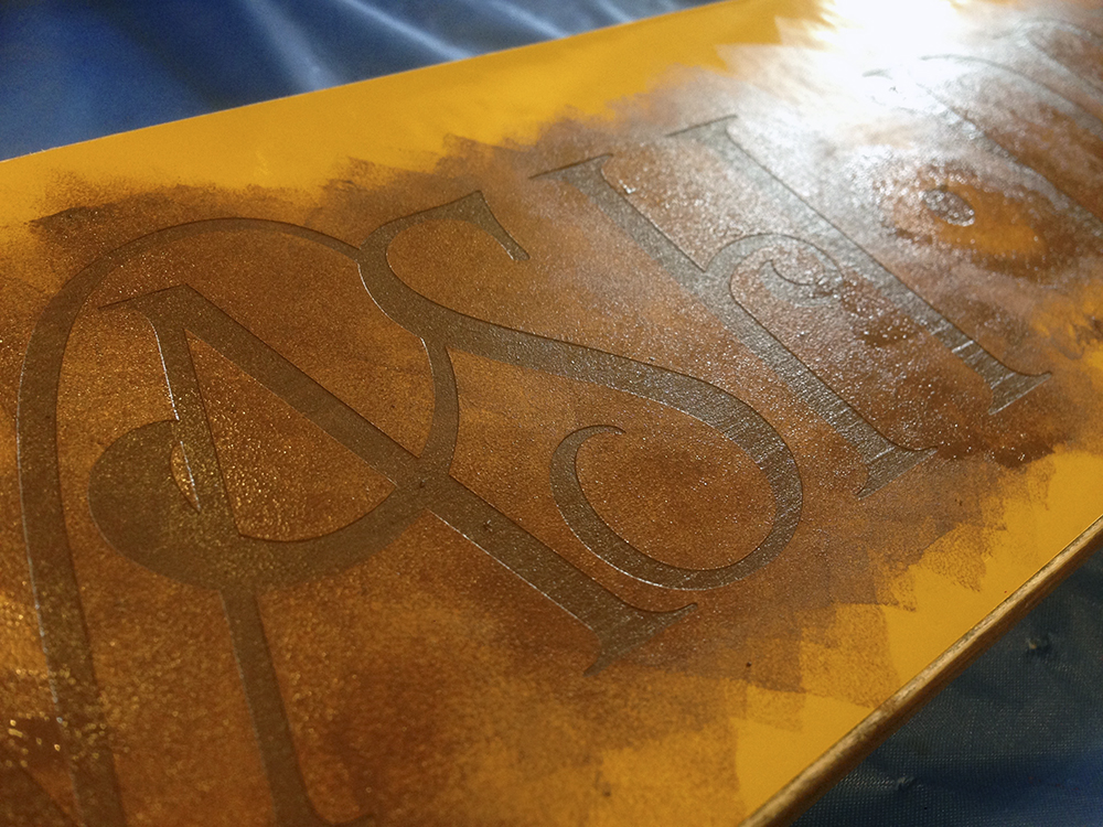 How To Get Crisp Lines When Stenciling With Vinyl - Board