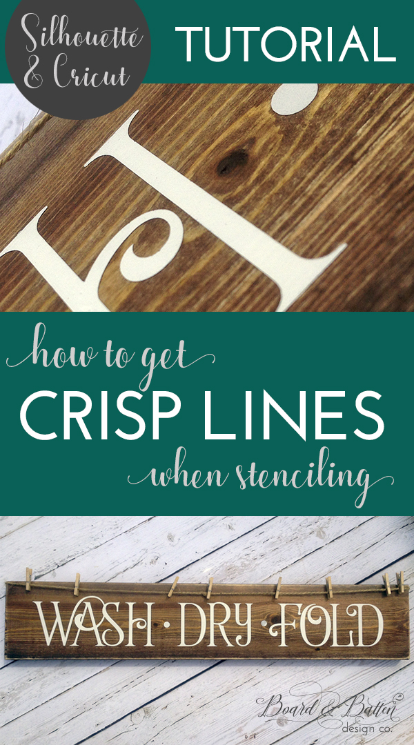 How To Get Crisp Lines When Stenciling With Vinyl Board